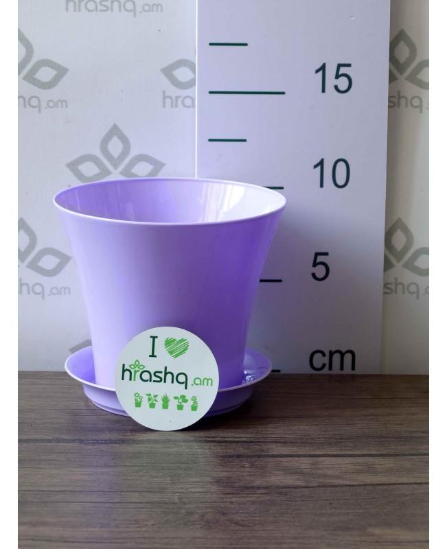 """Горшок """"Сити"""", фиолетовый, 0,7л"""