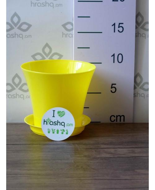 """Ծաղկաման """"Սիթի"""", դեղին, 0,7լ"""