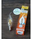 Лампа Ecola Candle LED 5,0W 220V E14 4000K 360° filament прозр. нитевидная свеча (Ra 80, 100 Lm/W) 125х37