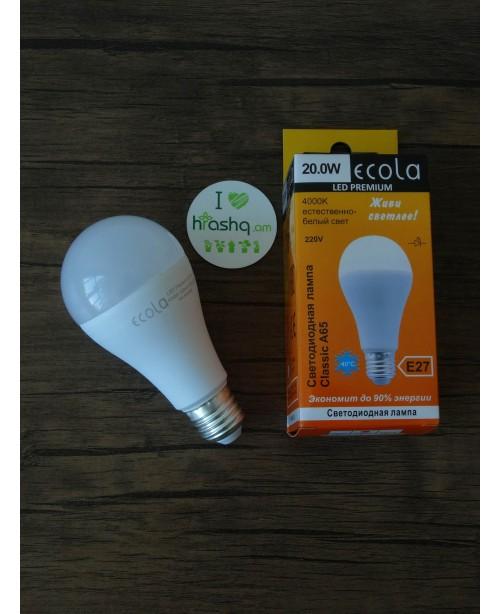 Լամպ Ecola Classic LED Premium 20,0W A65 220-240V E27 4000K  կոմպոզիտ 130x65
