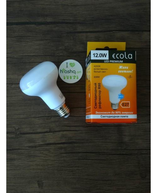Ecola Light Reflector R80 լամպ LED 12,0W 220V E27 4200K կոմպոզիտ 114x80