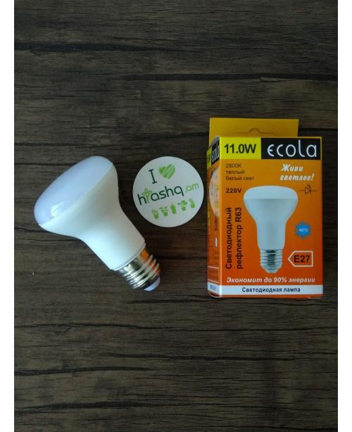 Ecola Light Reflector R63 լամպ LED 11,0W 220V E27 2800K կոմպոզիտ 102x63