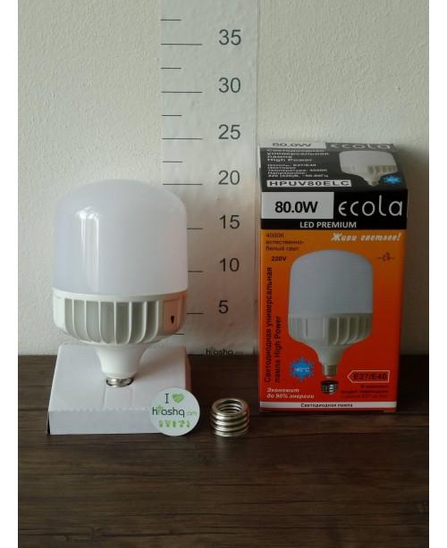 Лампа Ecola High Power LED Premium 80W 220V универс. E27/E40 4000K 280х140