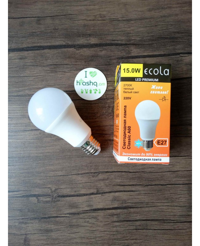 Ecola Classic LED Premium 15W A60 220-240V E27 2700K ԿՈՄՊՈԶԻՏ 120x60