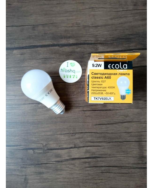 Ecola Light Classic LED Eco լամպ 9,2W A60 220V E27 4000K 110x60