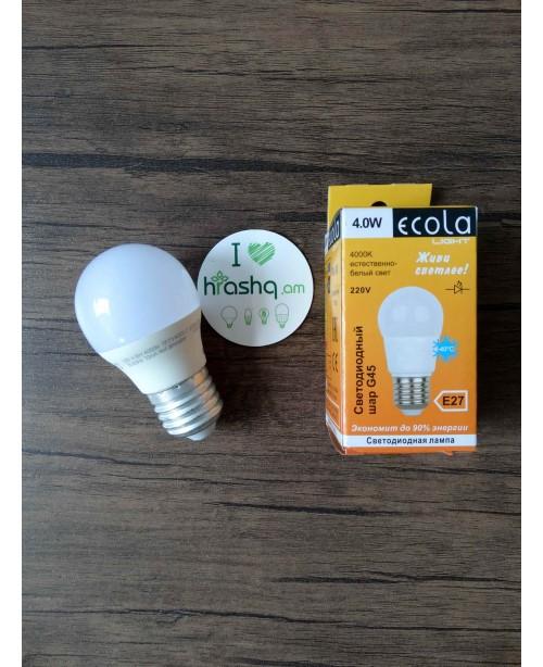 Ecola Light Globe լամպ LED 4,0W G45 ...