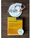 Լամպ Ecola LED Downlight 6W 220V 2700K 120x20: Կլոր, ներկառուցվող: