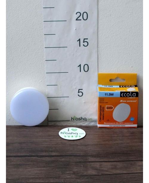 Ecola Light GX53 լամպ LED 11,5W 220V 6400K փայլատ 27x75