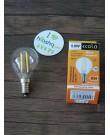 Լամպ Ecola Globe LED 5W G45 220V E14 4000K 360° filament թափանցիկ թելաձև գունդ (Ra 80, 100 Lm/W) 78х45