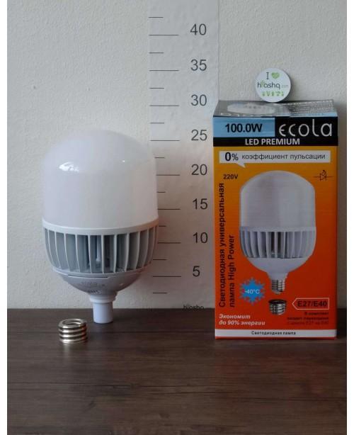 Лампа Ecola High Power LED Premium 100W 220V универс. E27/E40 6000K 280х160