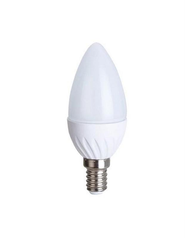 Ecola Light Candle լամպ LED 6,0W 220V E14 4000K մոմ 100x37