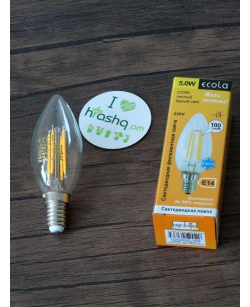 Լամպ Ecola Candle LED 5,0W 220V E14 ...