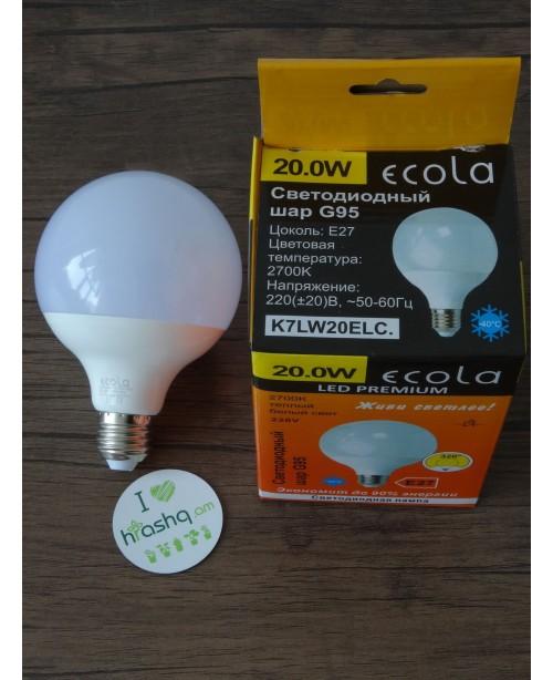 Լամպ Ecola Globe LED Premium 20,0W G...