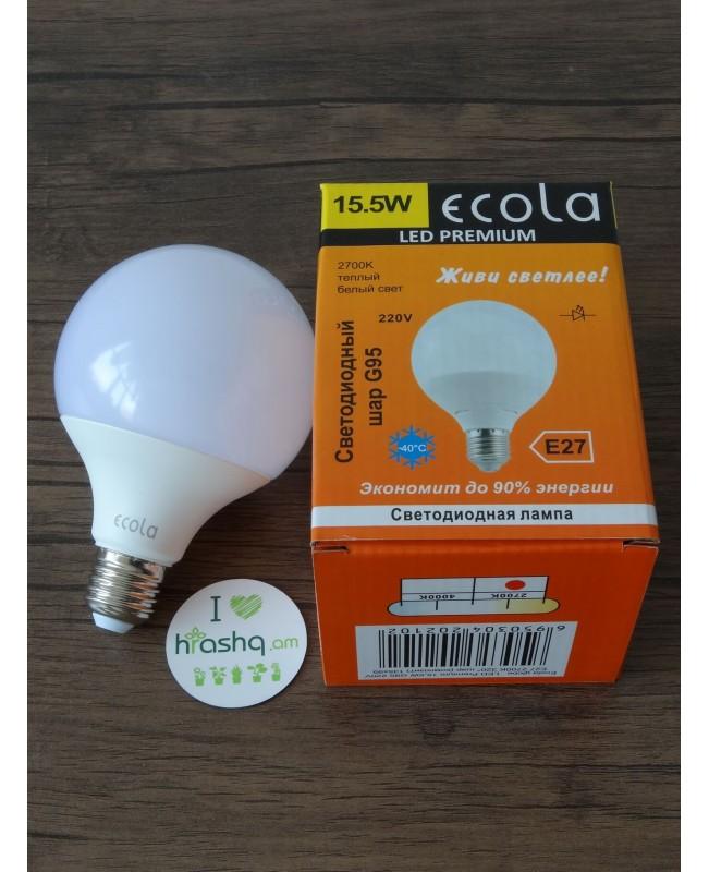 Լամպ Ecola Globe LED Premium 15,5W G95 220V E27 2700K 320° գունդ կոմպոզիտ 135x95