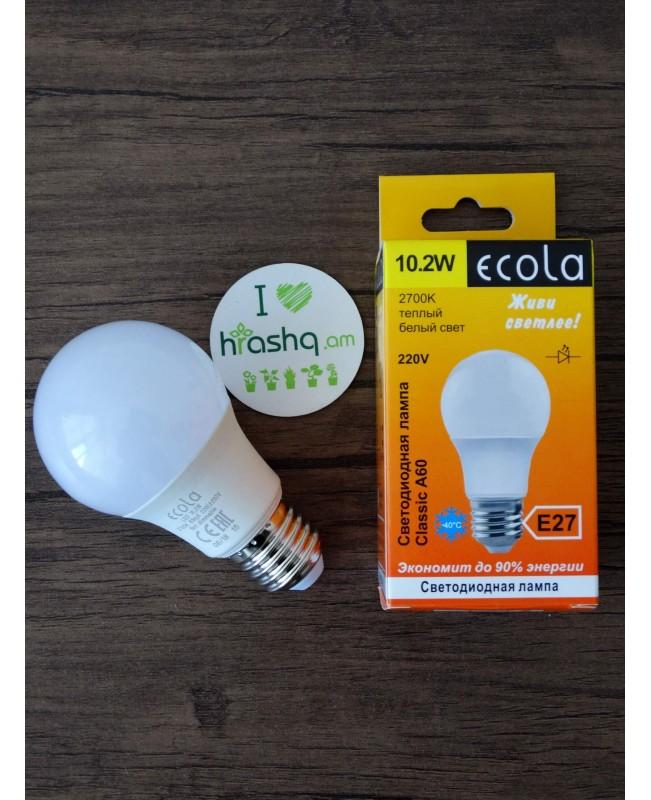 Ecola Light Classic LED լամպ 10,2W A60 220V E27 2700K 100x60
