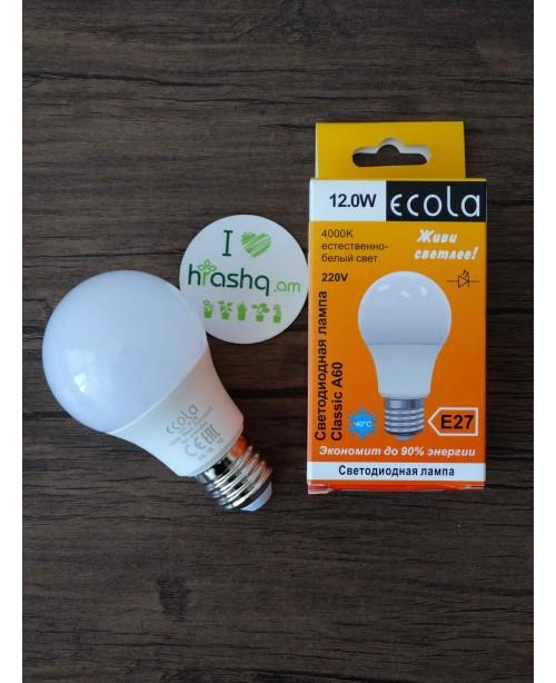 Ecola Light Classic LED լամպ 12,0W A60 220-240V E27 4000K 110x60