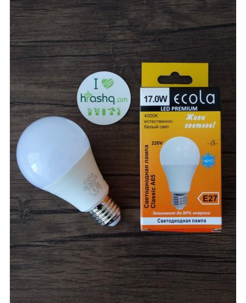 Ecola Light Classic LED լամպ 17W A60 220-240V E27 4000K ԿՈՄՊՈԶԻՏ 122x65