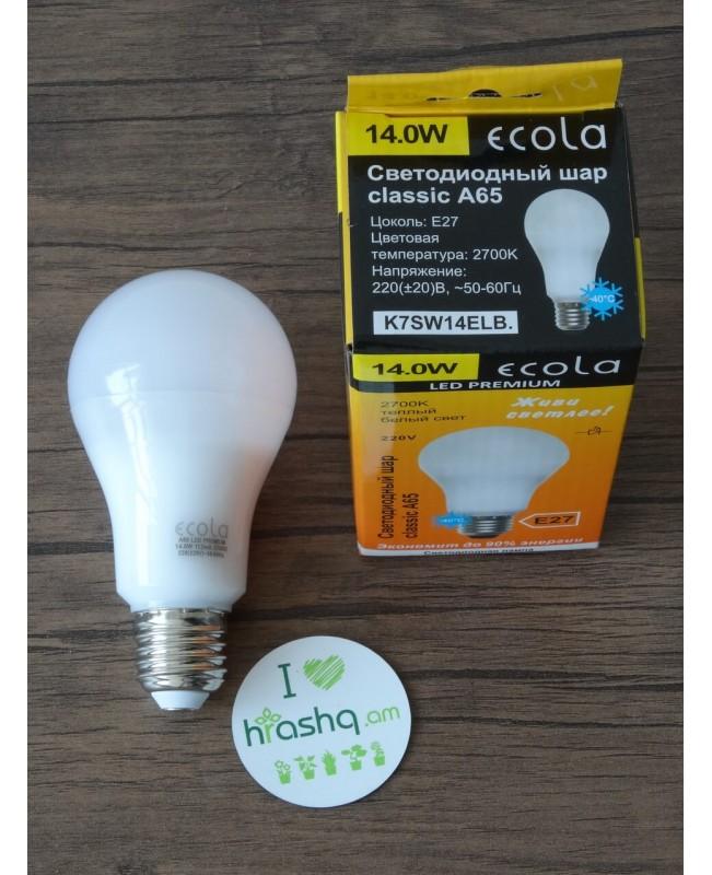Լամպ Ecola Classic LED Premium 14,0W A65 220-240V E27 2700K 360° կոմպոզիտ 125x65