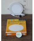 Лампа Ecola LED Downlight 9W 220V 2700K 145x20. Круглый, встраивaемый.