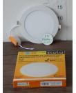 Лампа Ecola LED Downlight 12W 220V 2700K 170x20. Круглый, встраивaемый.