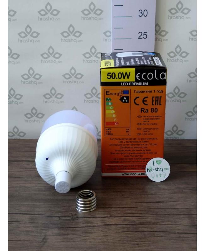 Լամպ Ecola High Power LED Premium 50W 220V ունիվերս. E27/E40 2700K 230х140