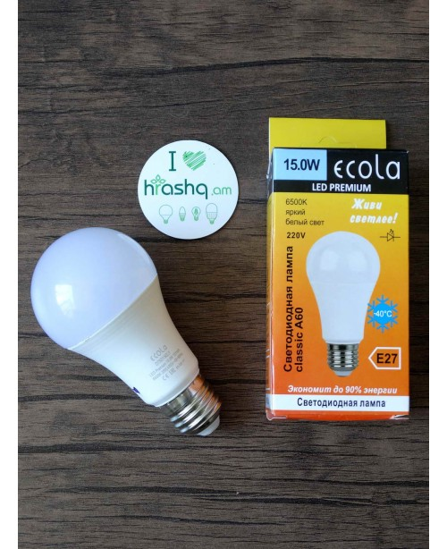 Ecola Classic LED Premium 15W A60 220-240V E27 6500K ԿՈՄՊՈԶԻՏ 120x60