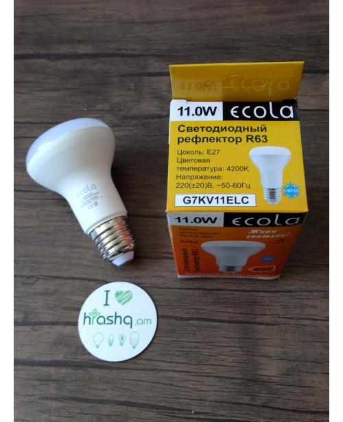 Ecola Light Reflector R63 լամպ LED 11,0W 220V E27 4200K կոմպոզիտ 102x63