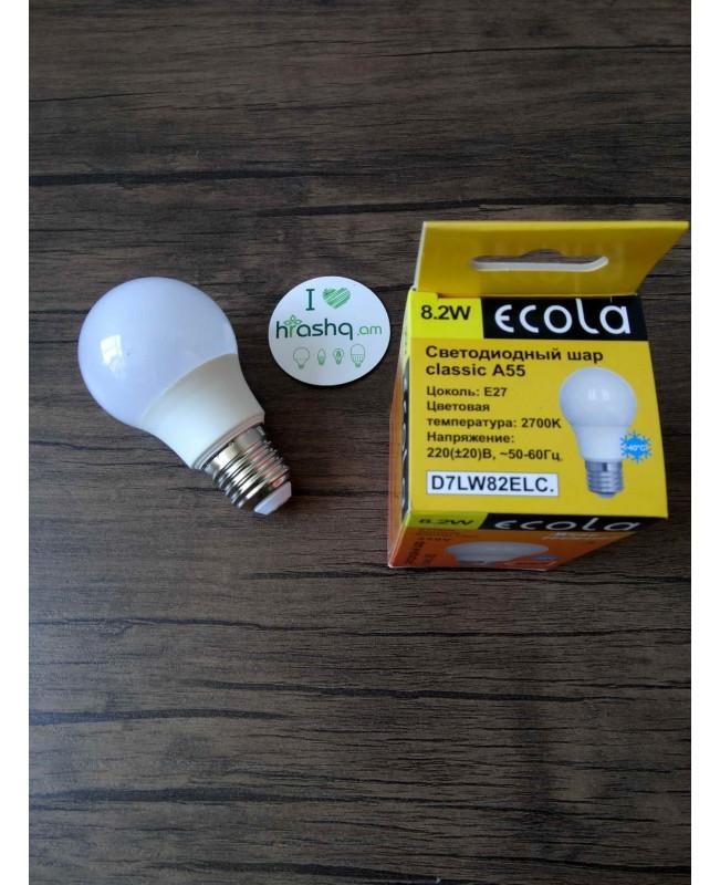 Լամպ լուսադիոդային Ecola classic LED 8,2W A55 220-240V E27 2700K (կոմպոզիտ) 102x57