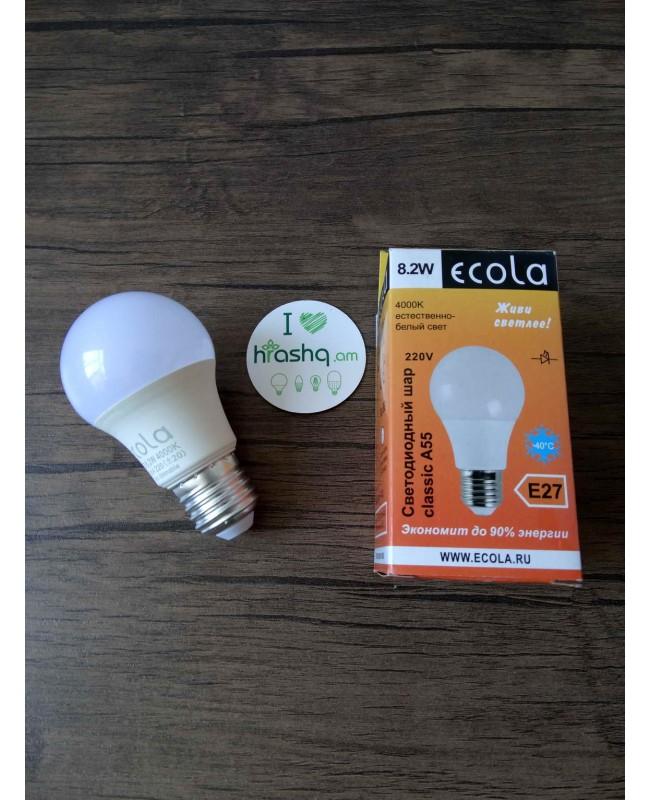 Լամպ լուսադիոդային Ecola classic LED 8,2W A55 220-240V E27 4000K (կոմպոզիտ) 102x57