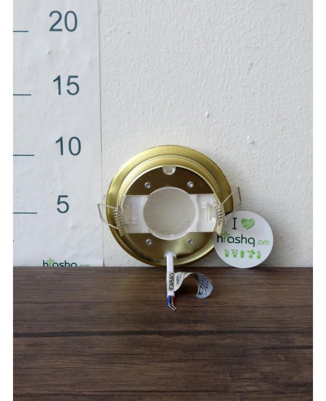 Встраиваемый светильник Ecola для GX53 H4, золото, 38x106