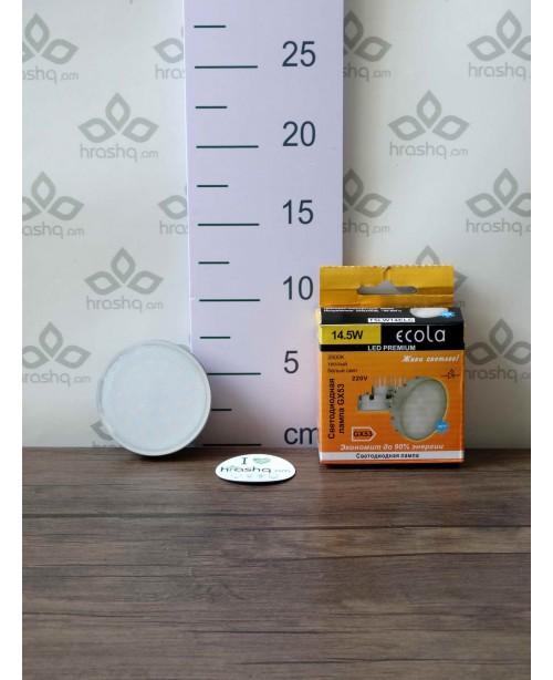 Լամպ լուսադիոդային Ecola GX53 LED Premium 14,5W Tablet 220V 2800K 75x41