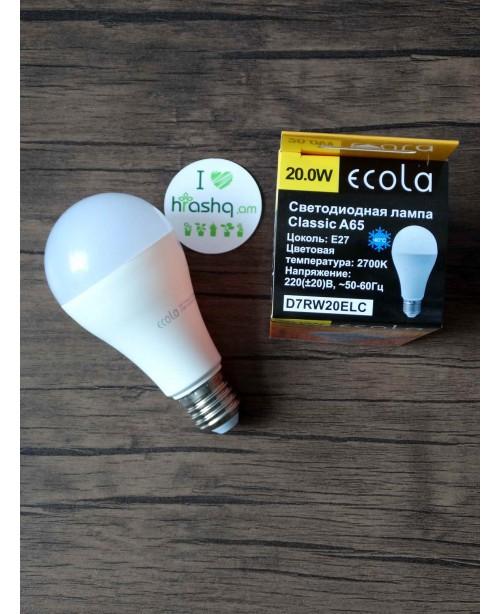 Լամպ Ecola Classic LED Premium 20,0W A65 220-240V E27 2700K  կոմպոզիտ 122x65