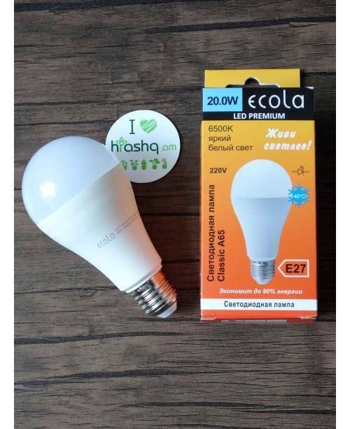 Լամպ Ecola Classic LED Premium 20,0W A65 220-240V E27 6500K  կոմպոզիտ 130x65
