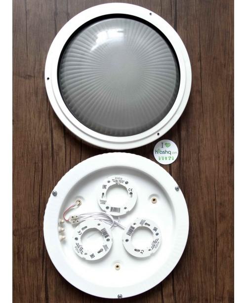 """Արտաքին լուսատու Ecola Light GX53 LED """"Շրջագիծ"""" 3*GX53 փայլատ ապակի IP65 սպիտակ 280х280х90մմ"""