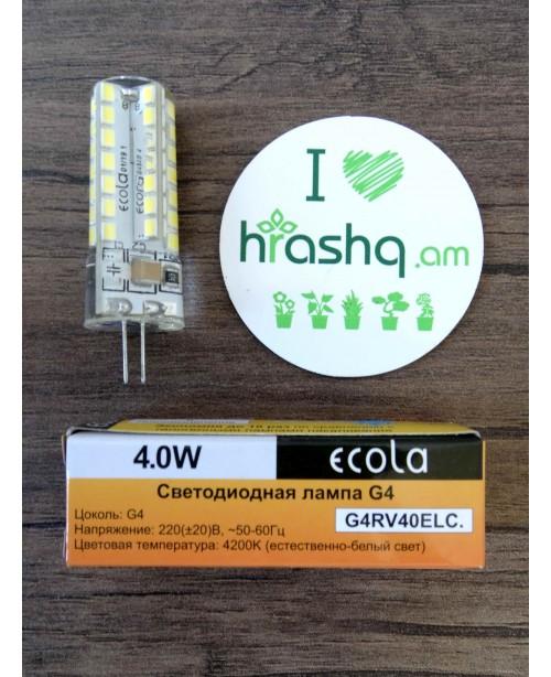 Լամպ Ecola G4 LED 4,0W Corn Micro 220V 4200K 320° 43x15մմ