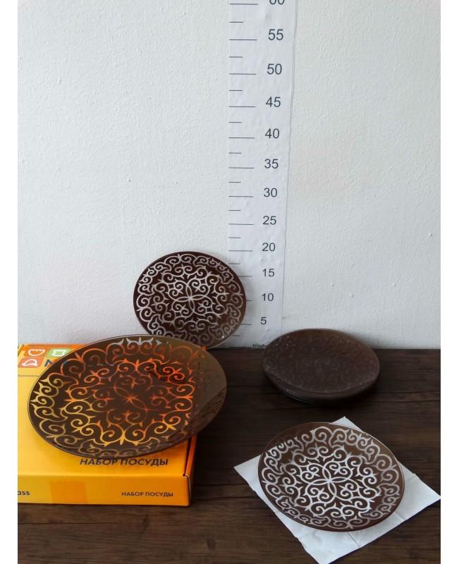 """Ափսեի հավաքածու  """"Արևելք"""" շոկոլադ 7հատ"""